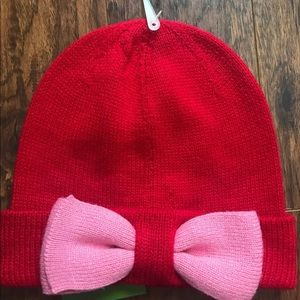 kate spade new york Colorblock Beanie Hat Red/Pink